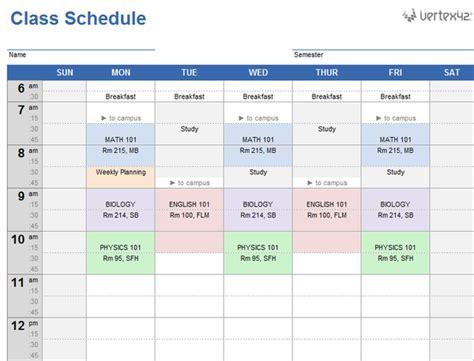 20 Plantillas Gratis De Horarios Para El Colegio En Excel Tuexperto Com Family Schedule Template Excel