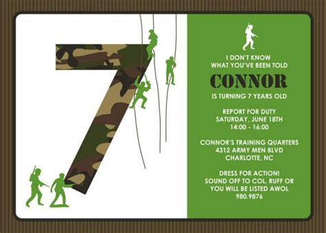 army birthday card template 52 best army birthday printables images on