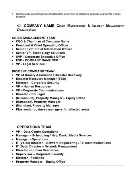 Crisis Management Plan Template Image Collections Template Design Ideas Corporate Crisis Management Plan Template