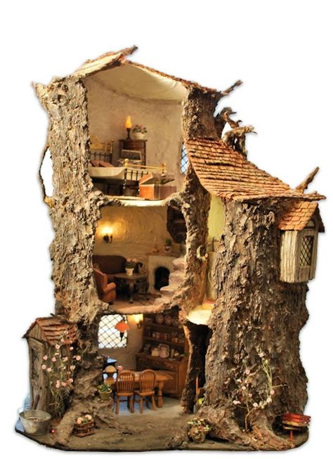 mouse house theminimice oak tree mouse house artist bears and little critters