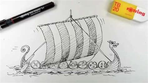 how to draw a easy viking boat how to draw viking long ship vikings the scandinavian