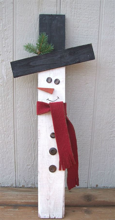 easy wood christmas crafts how to make a wooden snowman