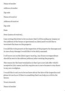 Letter Re Termination Of Lease Termination Letter Sle Termination Letter Sle Templates