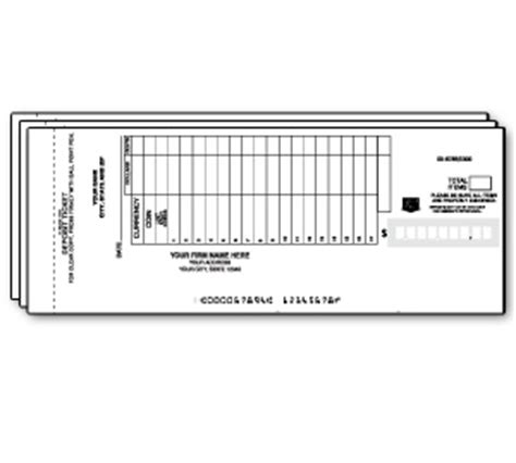 carbonless deposit ticket books quick scan custom deposit tickets