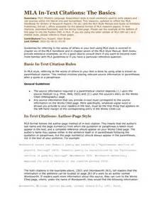 Mla format in text citation mla format examples mla style essay