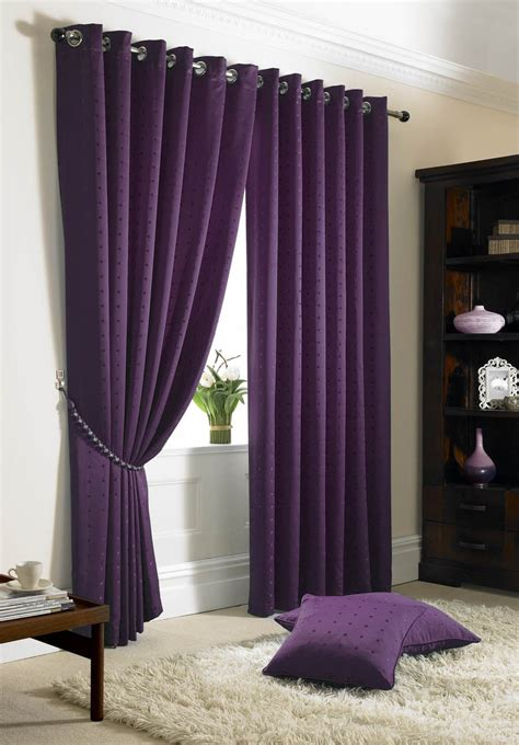 lined draperies jacquard check purple lined ring top eyelet curtains