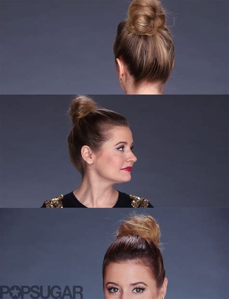 3 buns for any length without added hair fake a thick bun no sock needed smooth videos and buns