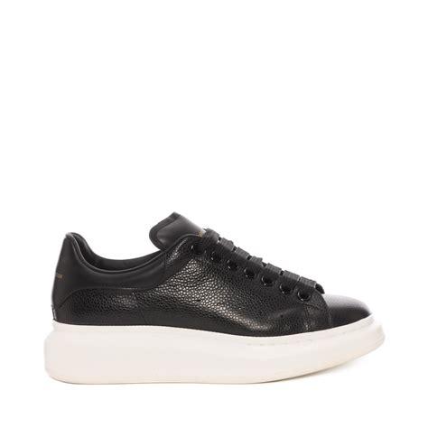 sneaker black lyst mcqueen oversized sneaker in black