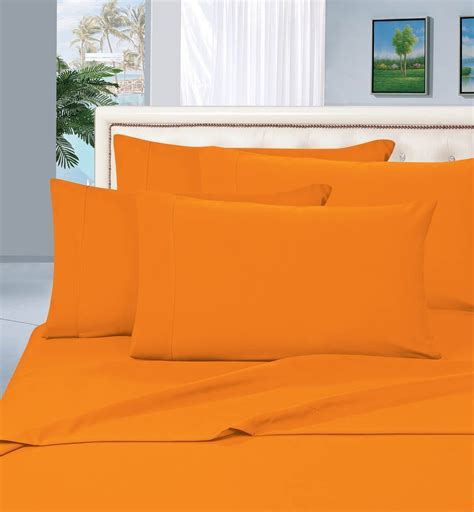 Best Sheets Amazon | orange bed sheet sets fall sale ease bedding with style