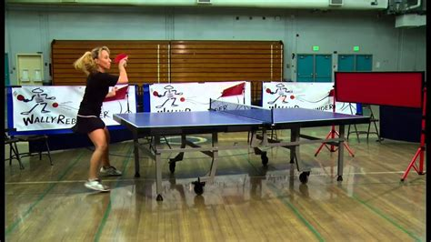 table tennis return board play table tennis with wally rebounder s return board