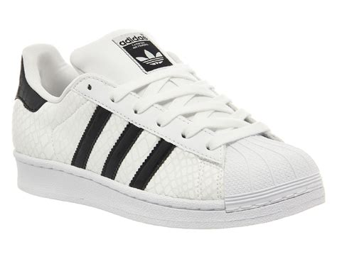 mens adidas superstar 1 white black white snake exclusive trainers shoes ebay