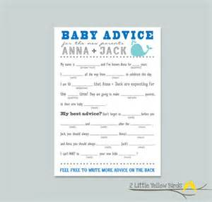 baby shower mad libs template baby shower advice card mad libs sea by 2littleyellowbirds