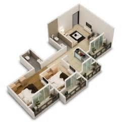 2 Bedroom 25 Two Bedroom House Apartment Floor Plans
