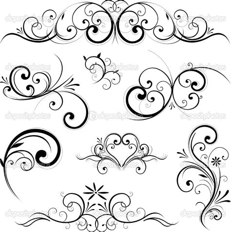 free tattoo ideas and designs fancy scroll designs fancy scroll ornament royalty free