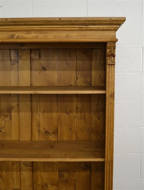 Pine Bookcase With Doors Pine Bookcase With Doors For Sale At 1stdibs