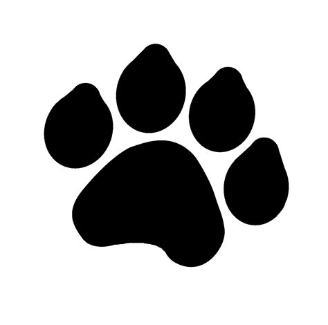 tiger paw template tiger paw stencil cliparts co