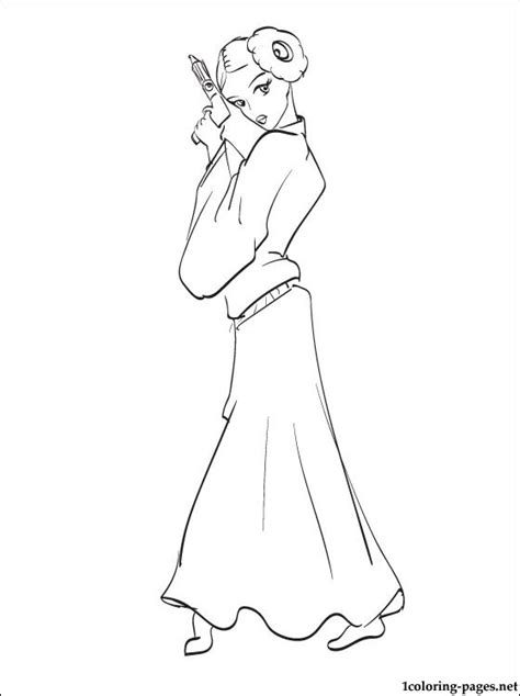 Free Coloring Pages Of Star Wars Leia Princess Leia Coloring Printable