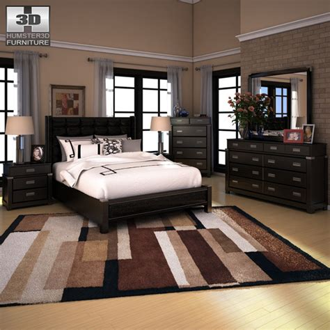 Diana Bedroom Set | ashley diana platform bedroom set by humster3d 3docean