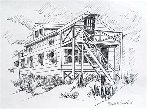 manasquan beach house manasquan beach house sketch drawing by melinda saminski