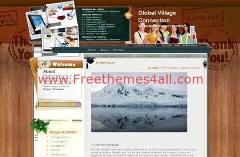 theme blogger education education wooden blogger theme download