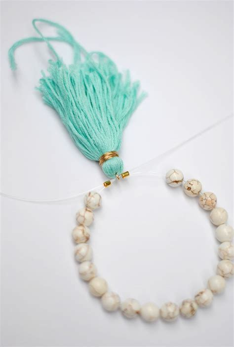 how to make your own beaded tassel bracelet c r a f t