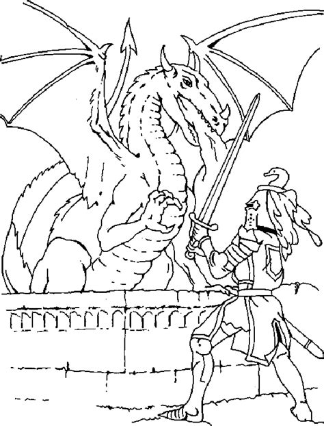 coloring pages of knights and dragons knight fighting a dragon coloring page coloring