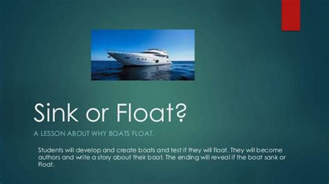 Should Your Float Or Sink by Sink Or Float