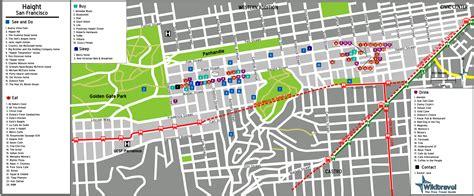 san francisco map haight ashbury organiser voyage aux etats unis en san francisco