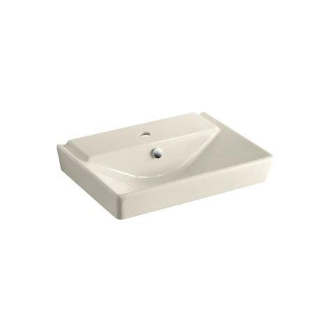 kohler reve pedestal sink kohler reve 3 in ceramic pedestal sink basin in almond