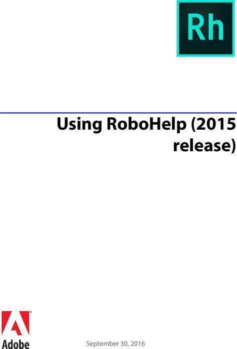 adobe  robohelp  release robo