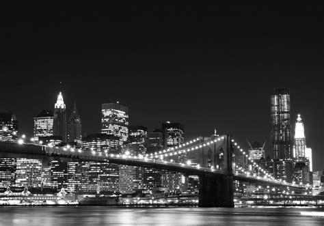 Brooklyn Bridge Wall Mural fotomural de vinilo con el puente de brooklyn de noche