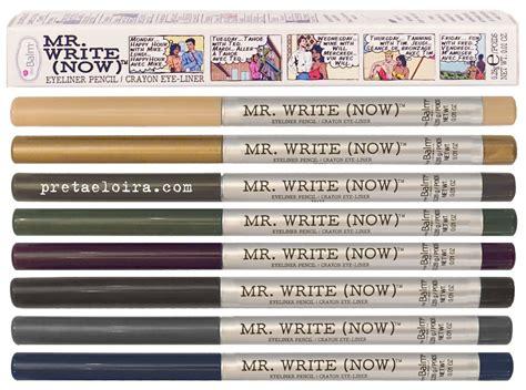 The Balm Mr Write novedades en the balm mr write now preta e loira