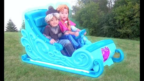 frozen power wheels sleigh disney frozen sleigh ride on power wheel