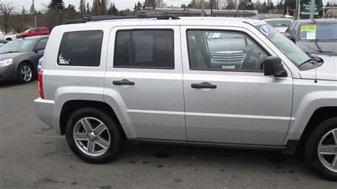 silver jeep patriot 2007 2007 jeep patriot sport 4wd silver stock l342370