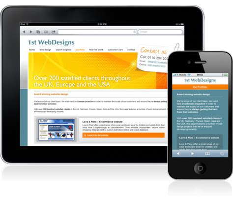 mobile web mobile web design