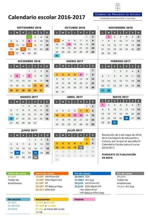Calendario Escolar 2017 Valencia Asturias Mantiene Los Tres Periodos De Vacaciones En Su