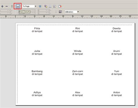 cara membuat label undangan motif bunga cara mencetak atau print label nama undangan biar pas