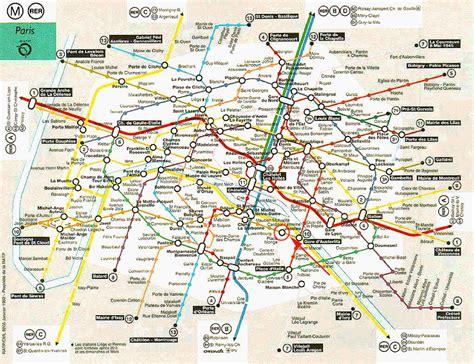 Plan De Metro De Paris