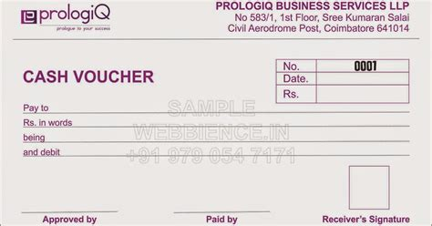 template galleries cash voucher template by webbience