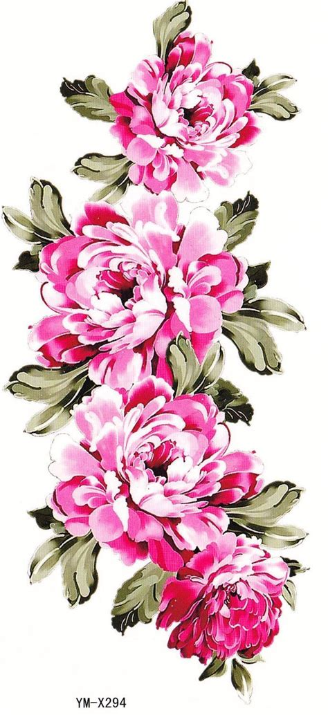 floral temporary tattoos best 25 pink flower tattoos ideas on pink ink