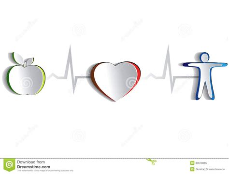 design for health heart health paper design stock vector illustration of