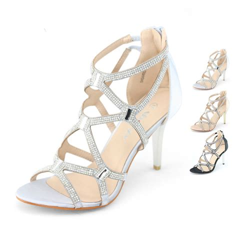 gladiator zip evening sandals stiletto high
