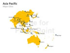 Map Of Asia Pacific by Asia Pacific Map Editable Powerpoint Template