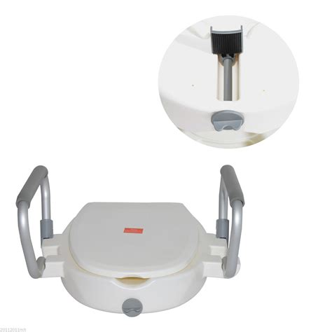 raised toilet seat with arms and legs raised toilet seat lid removable arms aosom ca