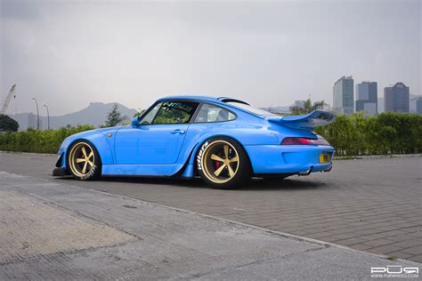 rwb porsche blue go wide with this rwb 993 porsche 911 with pur wheels