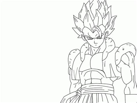 dragon ball z fusion coloring pages pin by death hell on draw vegetto fusion pinterest