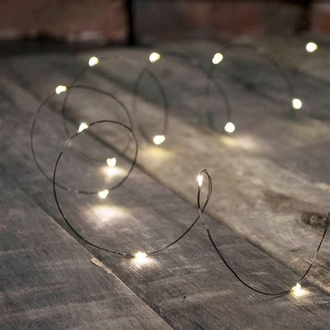 led fairy lights black wire 20 ft indoor outdoor timer
