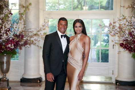 russell wilson says he and ciara are practicing abstinence russell wilson ciara attend state dinner at white house