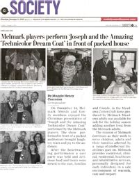 newspaper lifestyle section family christmas party featured in paper