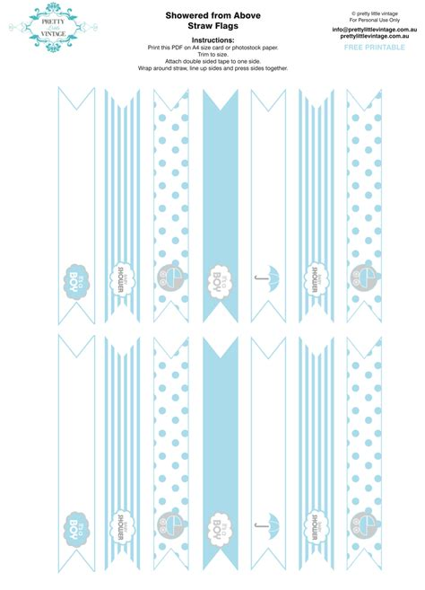 straw template free printables free printable baby shower straw